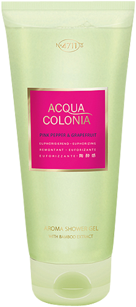4711 Acqua Colonia Pink Pepper & Grapefruit Aroma Shower Gel with Bamboo Extract