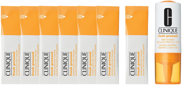 Clinique Fresh Pressed 7 Day System Set = Daily Booster 8,5 ml + 7x Renewing Powder Cleanser 5 g