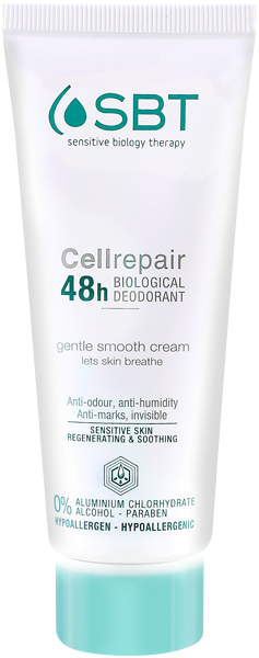 SBT Cell Identical Care Cellrepair 48h Biological Deodorant Gentle Smooth Cream